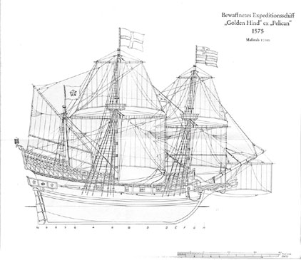 "Galleon""Golden Hind"""