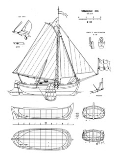 17th cenury Holland Yacht ship model plans