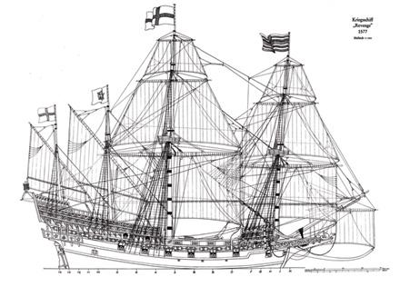 HMS Mayflower ship model plans