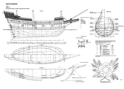 Mayflower ship model plans