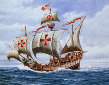 christopher columbus santa maria ship model plans